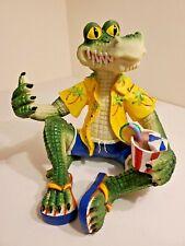 Colorful Alligator / Crocodile Figurine Emerald Isle Beach Home Decor