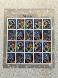 THE ART OF DISNEY - MAGIC Sheet of 20 - 41¢ Stamps Scott #4192-95  2007 MNH