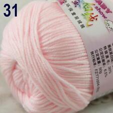 Sale New 1Ball x 50g Cashmere Silk Wool Hand Knit Wrap Shawls Crochet Yarn 31