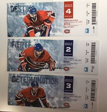 2011 MONTREAL CANADIENS PLAYOFF Ticket