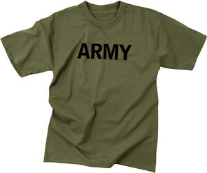 Olive Drab Army Physical Training PT Workout T-Shirt