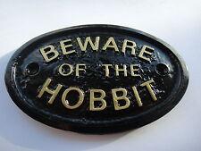 """BEWARE OF THE HOBBIT""  (MIDDLE EARTH) HOUSE DOOR PLAQUE WALL OR GARDEN SIGN NEW"