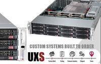 12x 3TB SAS HD UXS Server FREENAS 2U X9DRI-LN4F+ Xeon E5-2630L v2 64GB JBOD