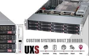 12x 4TB SATA HD UXS Server RAID 2U X9DRI-LN4F+ Xeon E5-2630L v2 64GB 9260-4i BBU