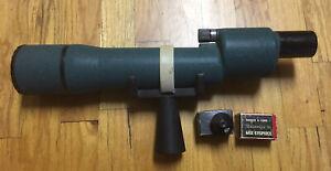 Vtg Balscope SR Bausch Lomb Spotting Scope Bird Eyepiece Monocular Lens Cap &