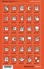 More details for brazil languages stamps 2020 mnh sign language cultures 30v m/s