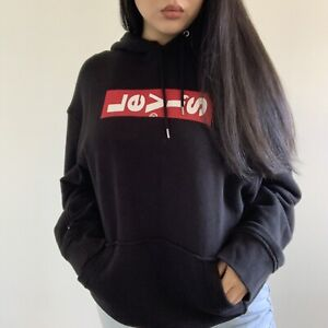 New Levi's Black Hoodie Size M