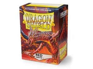 Matte Red 100 ct Dragon Shield Sleeves Standard Size FREE SHIPPING! 10% OFF 2+
