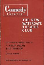 VINTAGE 1940s RICHARD HARRIS in A VIEW FROM THE BRIDGE PROGRAM - WATERGATE CLUB