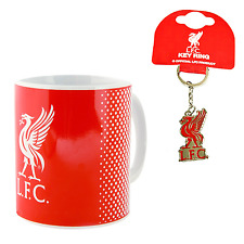 LIVERPOOL FC CERAMIC MUG & CREST KEYCHAIN OFFICIALLY LICENSED