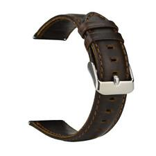 Quick Release Genuine Leather Watch Band 18 20 22mm Brown Replacement Belt Strap