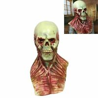 Creepy Bloody Zombie Skull Mask Latex Scary Horror Halloween Costume Party Props