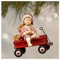 Bethany Lowe Wally Boy In Wagon Christmas Tree Ornament Retro Vntg Style Decor