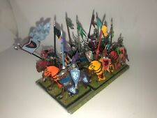 Warhammer Bretonnian Knights of the Realm (9) Well Painted COMPLETE plastic OOP