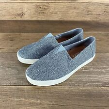 TOMS AVALON SLIP ON FORGED IRON GREY MEN'S SHOES SIZE 8 US SELLER