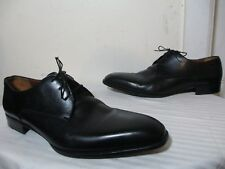 A. TESTONI MEN'S BLACK LEATHER LACE UP OXFORDS DRESS SHOES SZ 11 M MADE IN ITALY