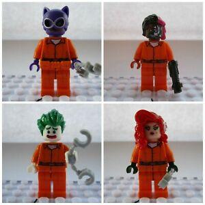 Two Face,Catwoman,Ivy & Joker Super Heroes Mini Figures Use With lego Batman