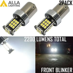 Alla Lighting 1157 6000K 30-LED Front Turn Signal Lights Blinker Bulb Lamp,White