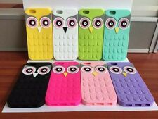 Soft Silicone Owl Colourful 3D Animal Case Cover For iPhone Samsung Galaxy