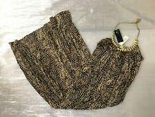 "BNWT "" RIVER ISLAND "" ANIMAL PRINT WITH GOLD TIGER NECKLACE MAXI DRESS - UK 8 !"