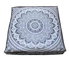 "New 35"" Large Floor Decorative Pillow Cushion Cover Grey Mandala Decor Throw"