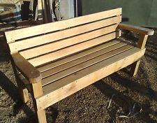 Handmade Standard oak hardwood garden bench seat furniture memorial
