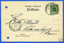 GERMANY, CIRCULATED POSTAL CARD WITH STAMP, YEAR 1898
