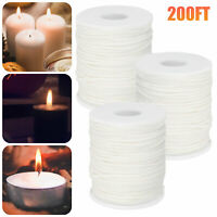 200FT 61M Braided Wicks Candle Wicks Spool Cotton for Candle DIY Candle Making