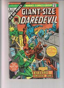 "Giant Size Daredevil 1 VG+ (4.5) 1975 ""Electro & His Emissaries of Evil!"""
