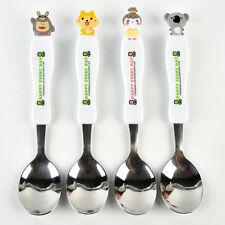 Portable Kid Travel Cutlery Set Cute Dining Cartoon Stainless Steel Spoon & Fork
