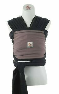 Ergobaby 4D Stretch Baby Wrap Sling Carrier Black & Tan (Pepper Color) EUC