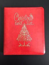 Vintage Red Address Book Christmas Card List Loose Leaf UNUSED C.R. Gibson Retro