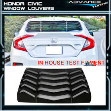 For 16-18 Honda Civic Sedan Rear Window Louvers Sun Shade Back Cover ABS