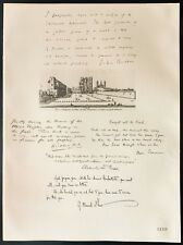 1926 - Lithographie Col. John Buchan, W. Steed, SirOwen Seaman, Sir Alfred