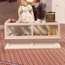 WHITE SHOP COUNTER 12TH SCALE FOR DOLLS HOUSE SHOP