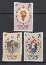 1981 Royal Wedding Charles & Diana MNH Stamp Set Cayman Islands SG 534-536