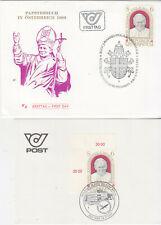 Austria  FDC 1983 Pope + postcard