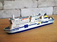 Buque Modelo Coche Ferry Nils Dacke 17cm Polyresin Travemünde Suecia