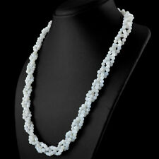 Party Wear 258.00 Cts Natural Round Shape Blue Flash Moonstone Beads Necklace