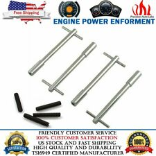 """Chrome Steel Valve Cover T-Bar Wing Nuts Bolts Studs 1/4""""-20 For Chevy Ford Olds"""