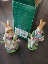 Fitz & Floyd Old World Rabbits Salt & Pepper Shakers Great Condition!