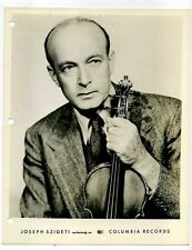 JOSEPH SZIGETI Classical Music Violinist PHOTO ORIGINAL 1940 Viloin Classical