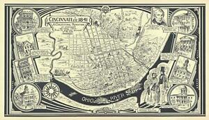 1941 Williams Pictorial Map of Cincinnati, Ohio