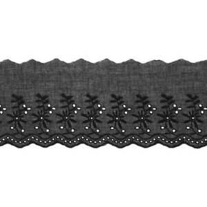 Baumwolle Spitzenborte Spitzenband Bogenkante Spitzenbesatz Spitze 90 mm