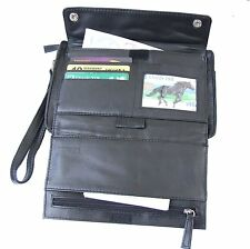 Leather Travel Wallet Document Holder & Passport Holder with Safety Strap - KP71