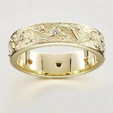 RARE Ola Gorie Scottish 18ct White Gold Diamond and Sapphire Ring