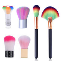 Nail Brush for Power Glitter Remover Cleaning Nail Art Tool Rose Gold