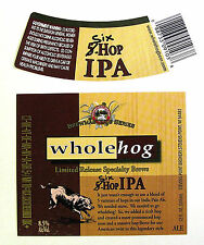 Stevens Point Brewery SIX-HOP IPA beer label WI 12oz Limited Release