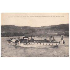 AIX-LES-BAINS 2948 le grand port départ du bateau à roue à aube pour Hautecombe
