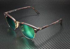 RAY BAN RB3016 114519 Clubmaster Sand Havana Gold Grey Mirr Green 51 Sunglasses